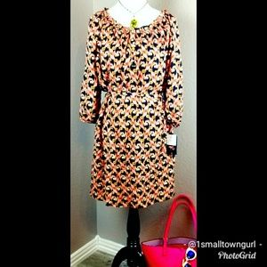The Webster Miami fit and flair print dress XL NWT